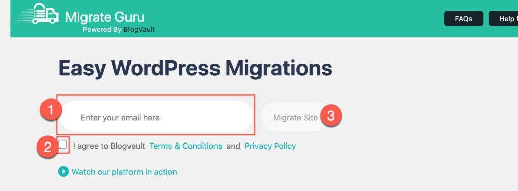 migrate wordpress website